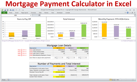 Georges Excel Mortgage Calculator Pro v4.0