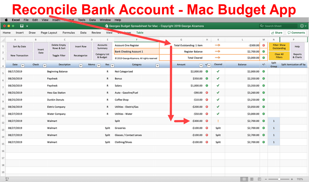 mac budget software using excel for mac to manage personal