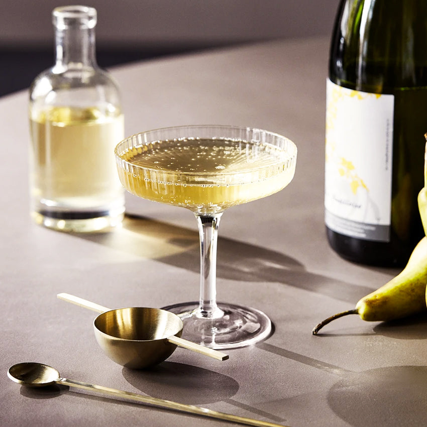 Ripple Champagne Saucer Set of 2