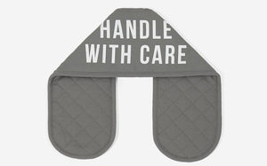 Handle With Care Oven Gloves