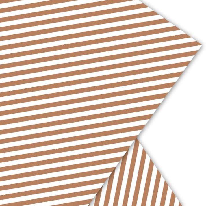 Gift Wrap Paper Gold Stripe