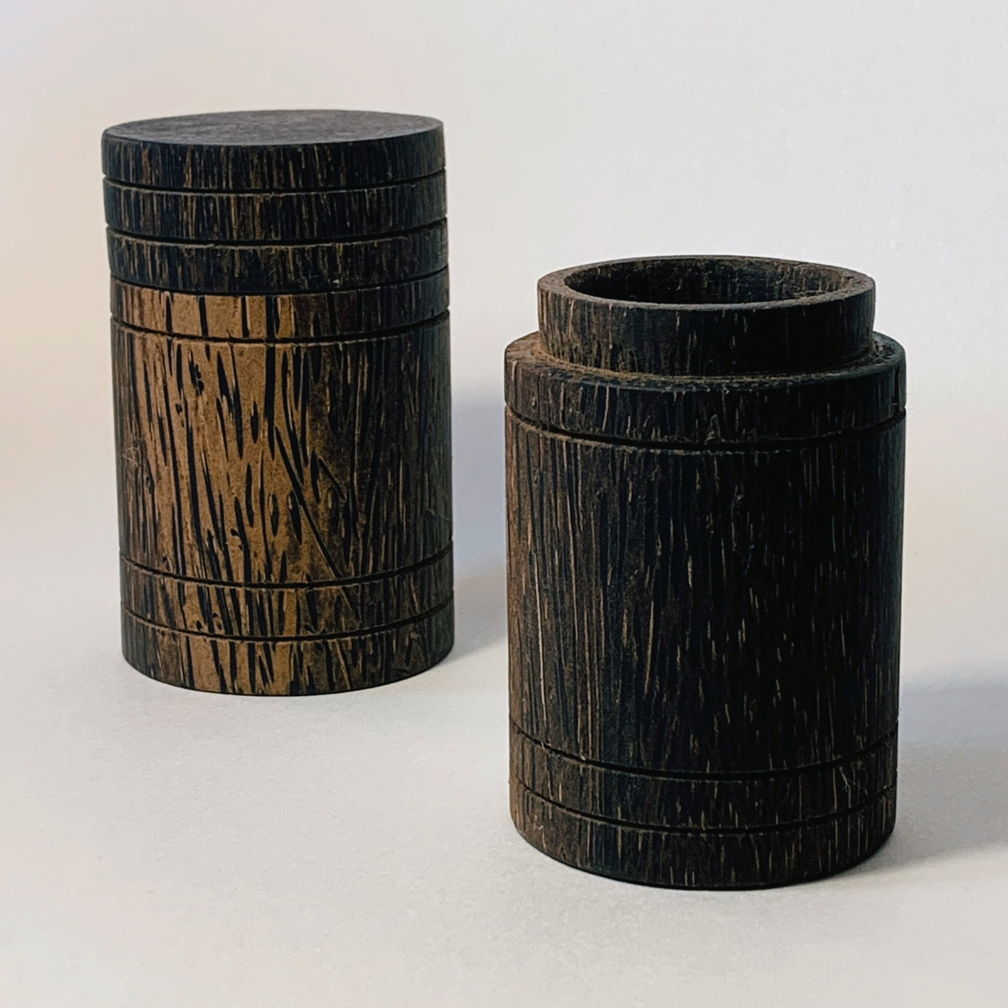 Palm Wood Pot