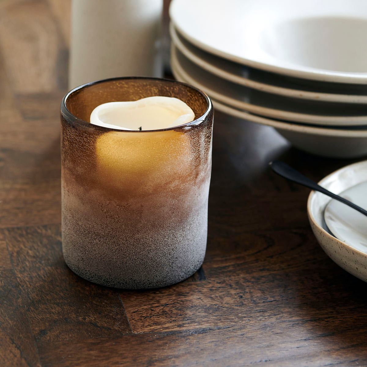 Mist Candle Holder Amber - Assorted