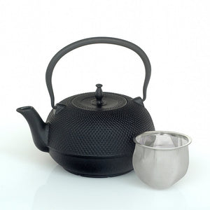 Large Cast Iron Teapot Black