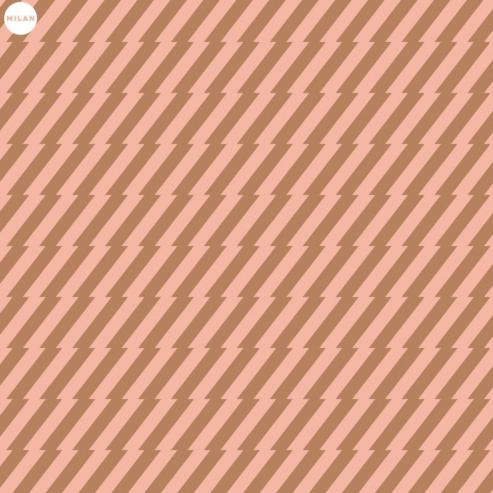 Gift Wrap Paper Pink Gold Stripe
