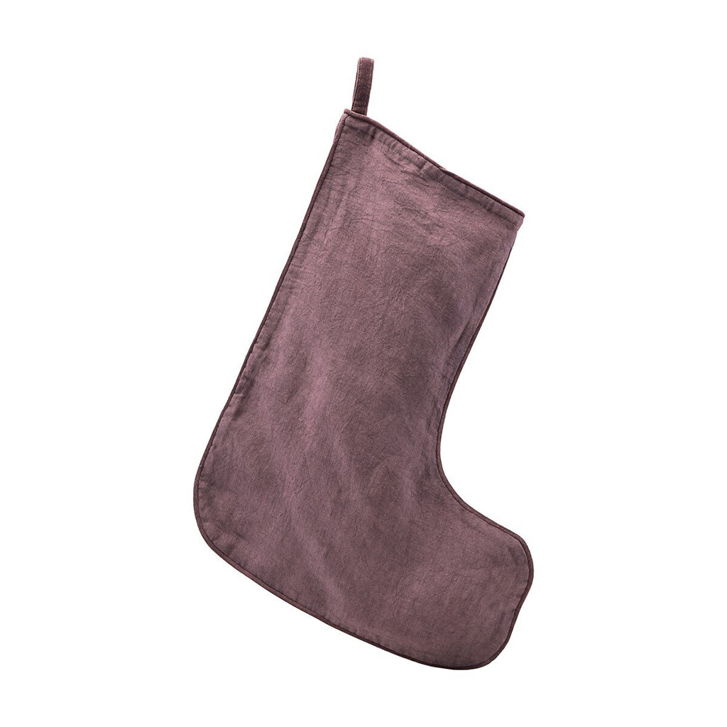 Linen Christmas Stocking - Assorted
