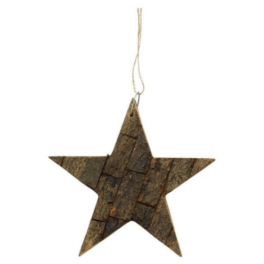 Decoration Wooden Star Natural