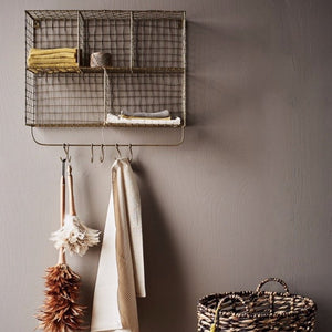 Brassie Storage Shelves with Hooks - Assorted