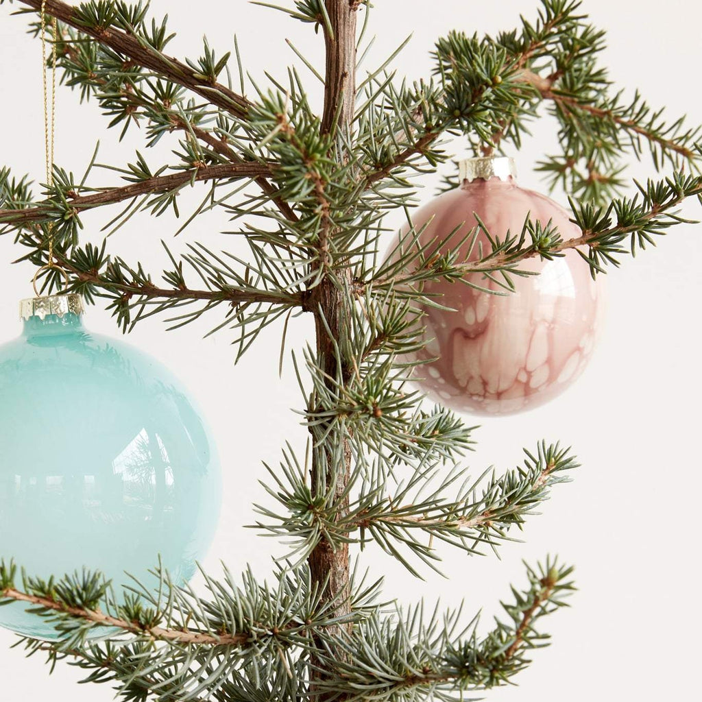 Decoration Coloured Glass Baubles - Assorted