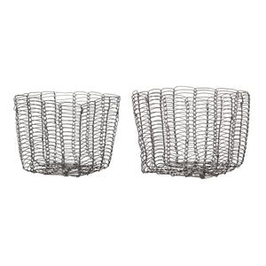 Basket Grey Metal Small