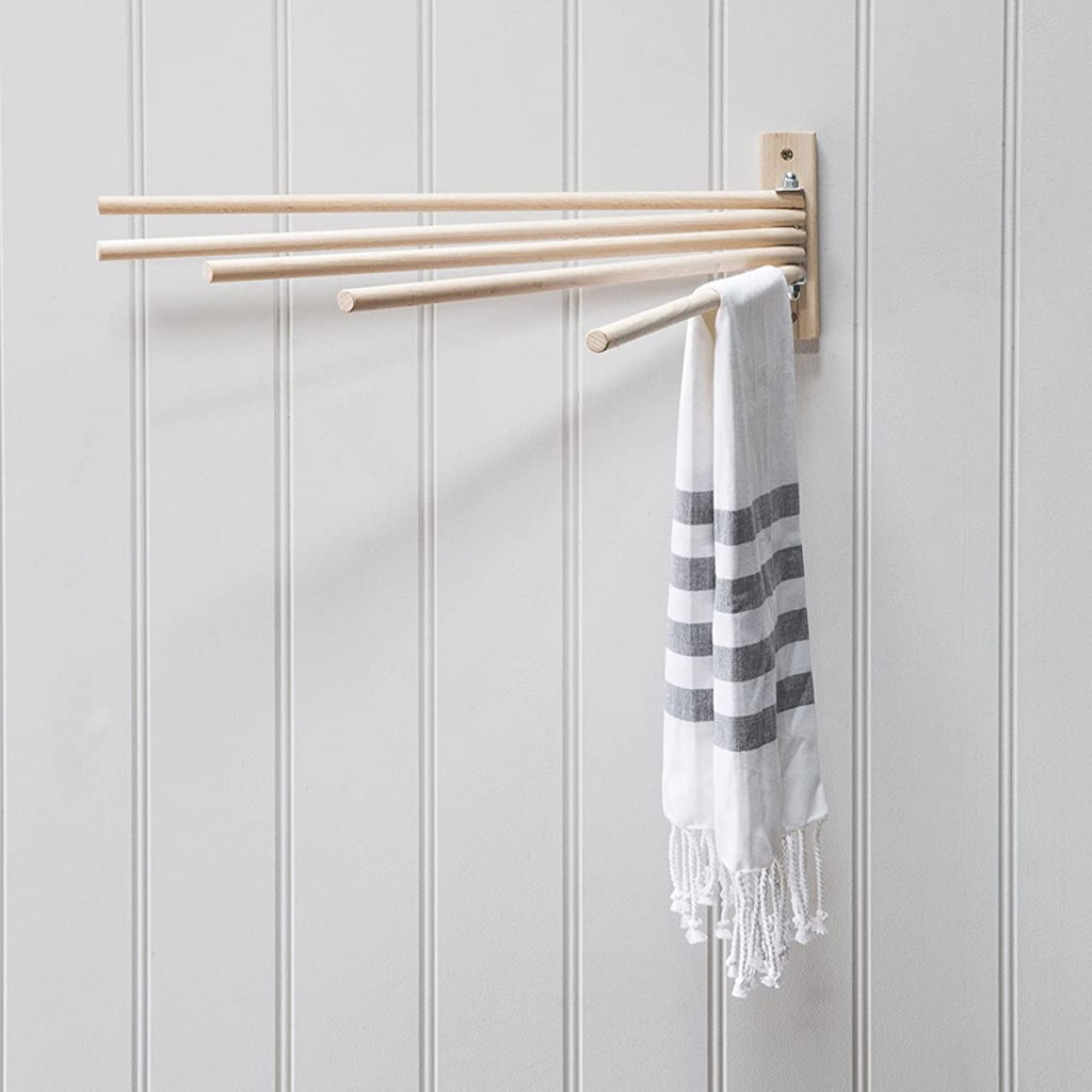 Beech Wall Dryer Towel Holder