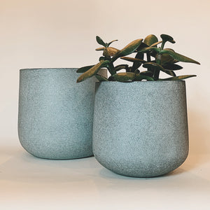 Ora Metal Sky Blue Planter - Assorted