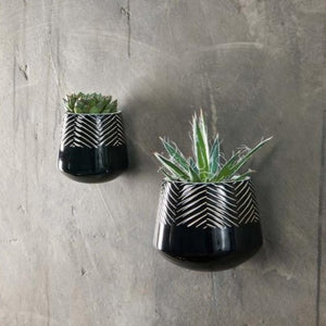 Kavara Wall Hung Planter Black - Assorted
