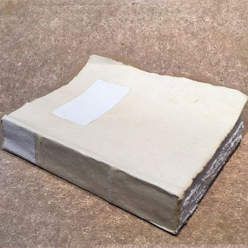 Large Handmade Deckle Edge Notebook - Assorted