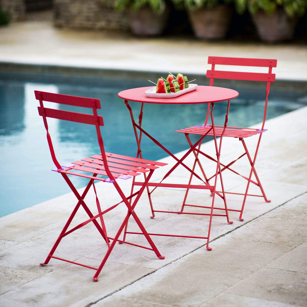 Outdoor Cafe Set in Coral