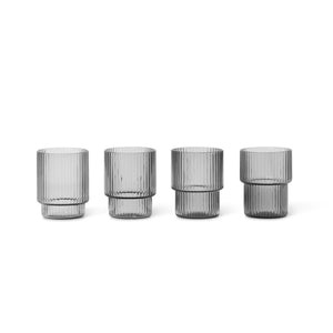 Ripple X Small Glass Smk Set of 4