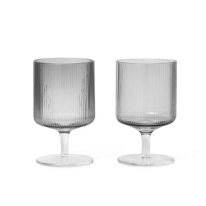 Ripple Wine Glass Smk Set of 2