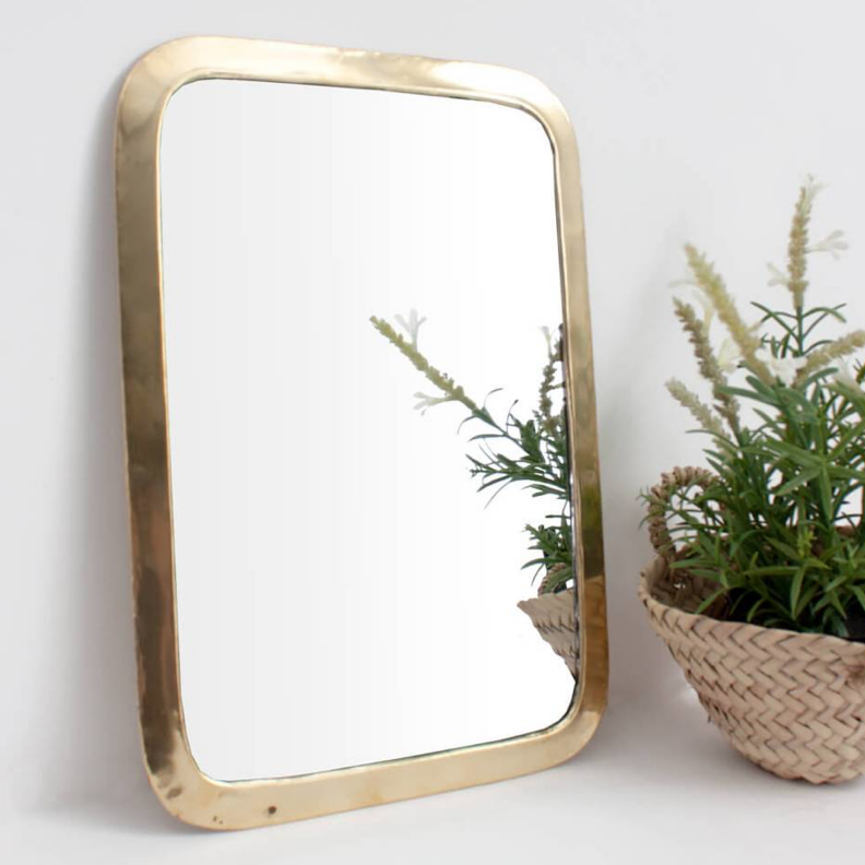 Nourredine Brass Frame Mirror - Assorted