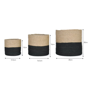 Jute Pot Two Tone - New Stock on Back Order!