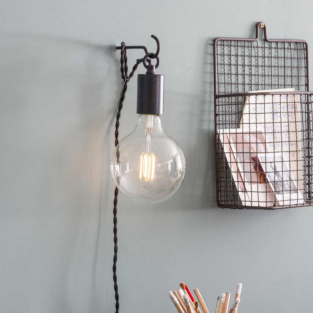 Soho Wall Light Carbon Steel