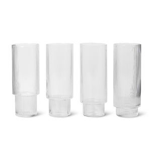 Ripple Long Glass Set of 4