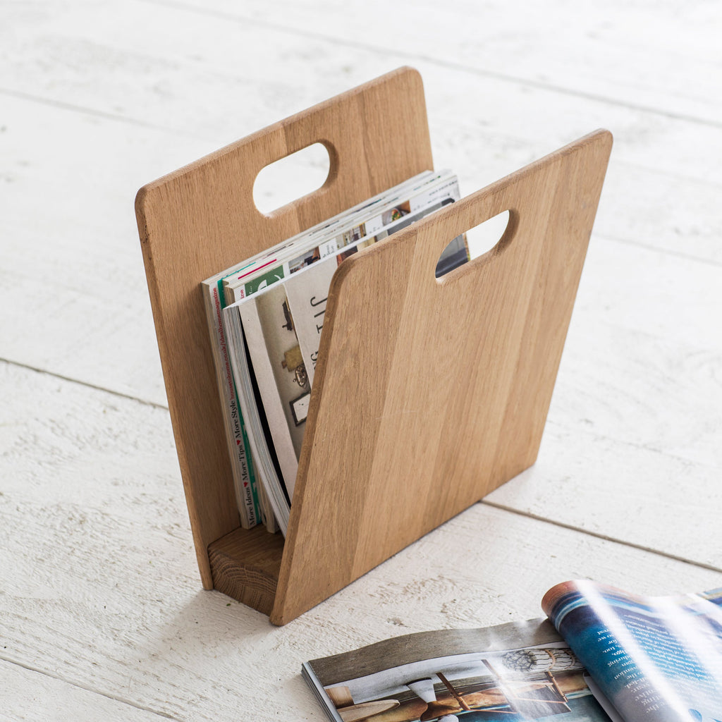 Woody Magazine Rack Oak