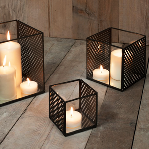Baka Square Lantern - Antique Black