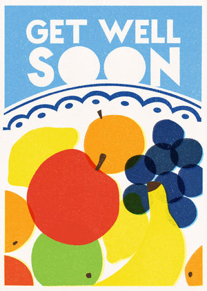 Card Get Well Soon Fruit Bowl
