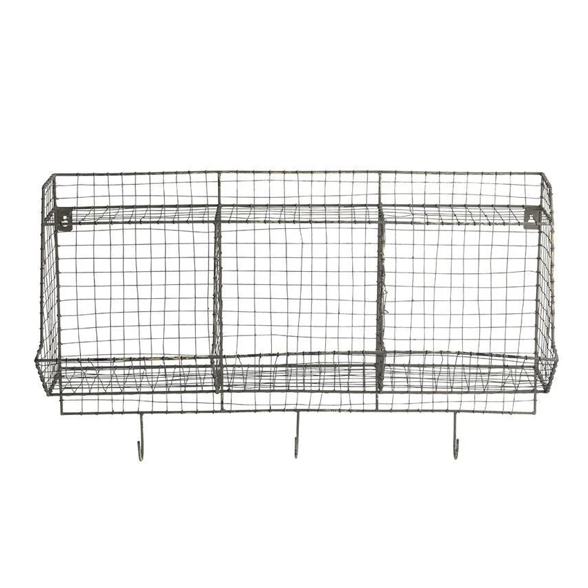 LR Storage & Hooks Shelf Grey