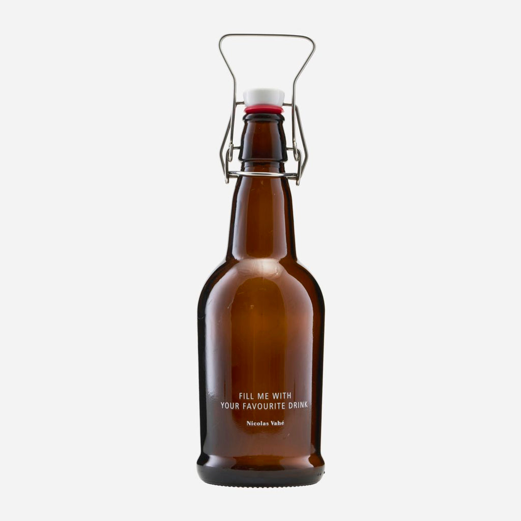 Brown Bottle With Patent Plug