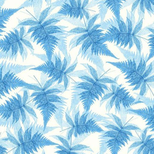 Gift Wrap Blue Ferns