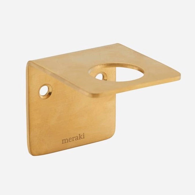 Wall Bracket Bottle Hanger - Brass
