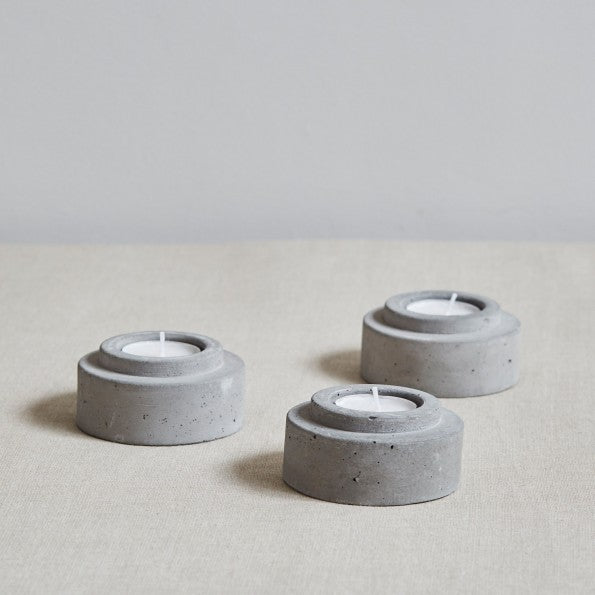 Concrete Candle Holder - Set of 3
