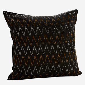 Ikat Black/Velvet Cushion 50x50