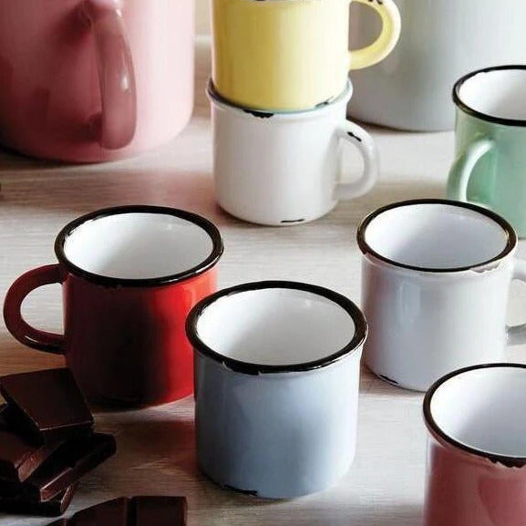 Tinware Style Espresso Mugs - Set of 6