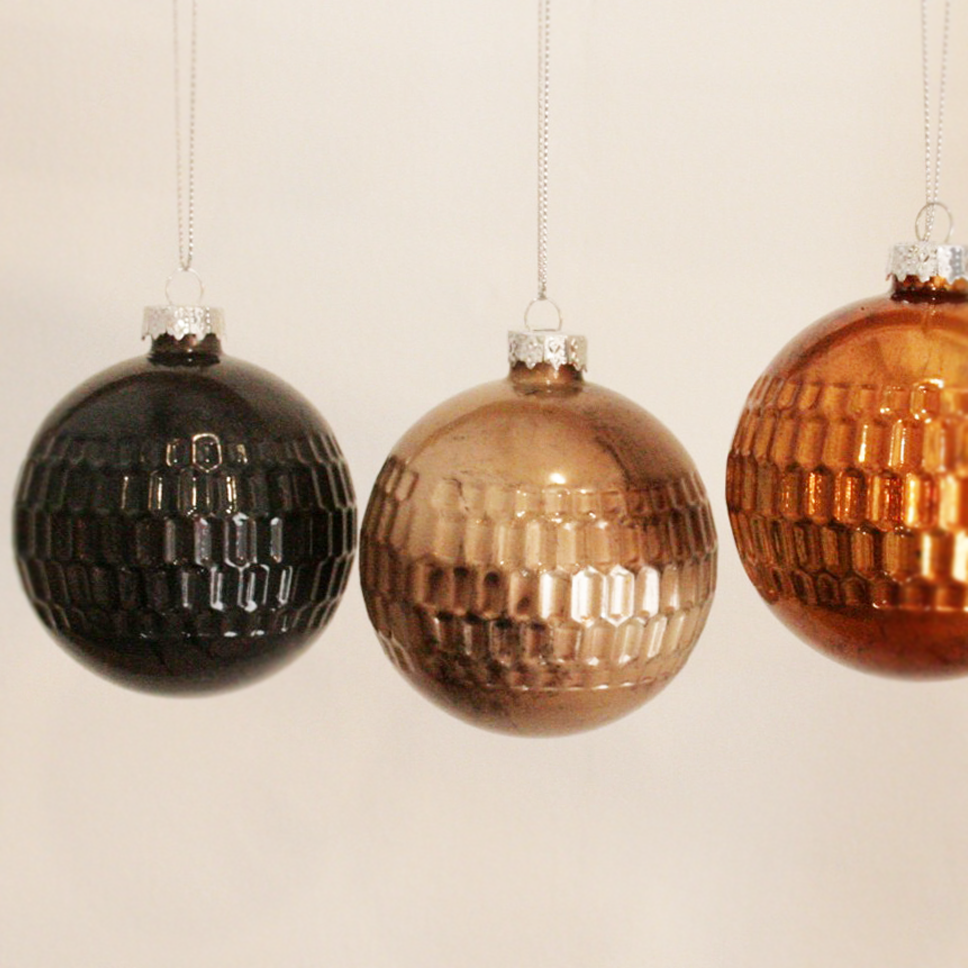 Decoration Brushed Matte Glass Bauble - Assorted