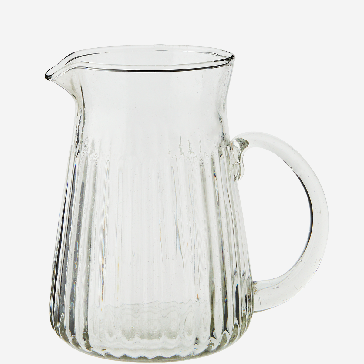 Glass Jug with Grooves