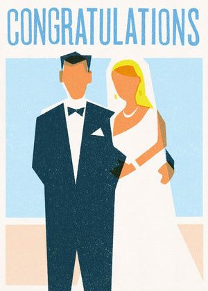 Card Congrats Bride & Groom