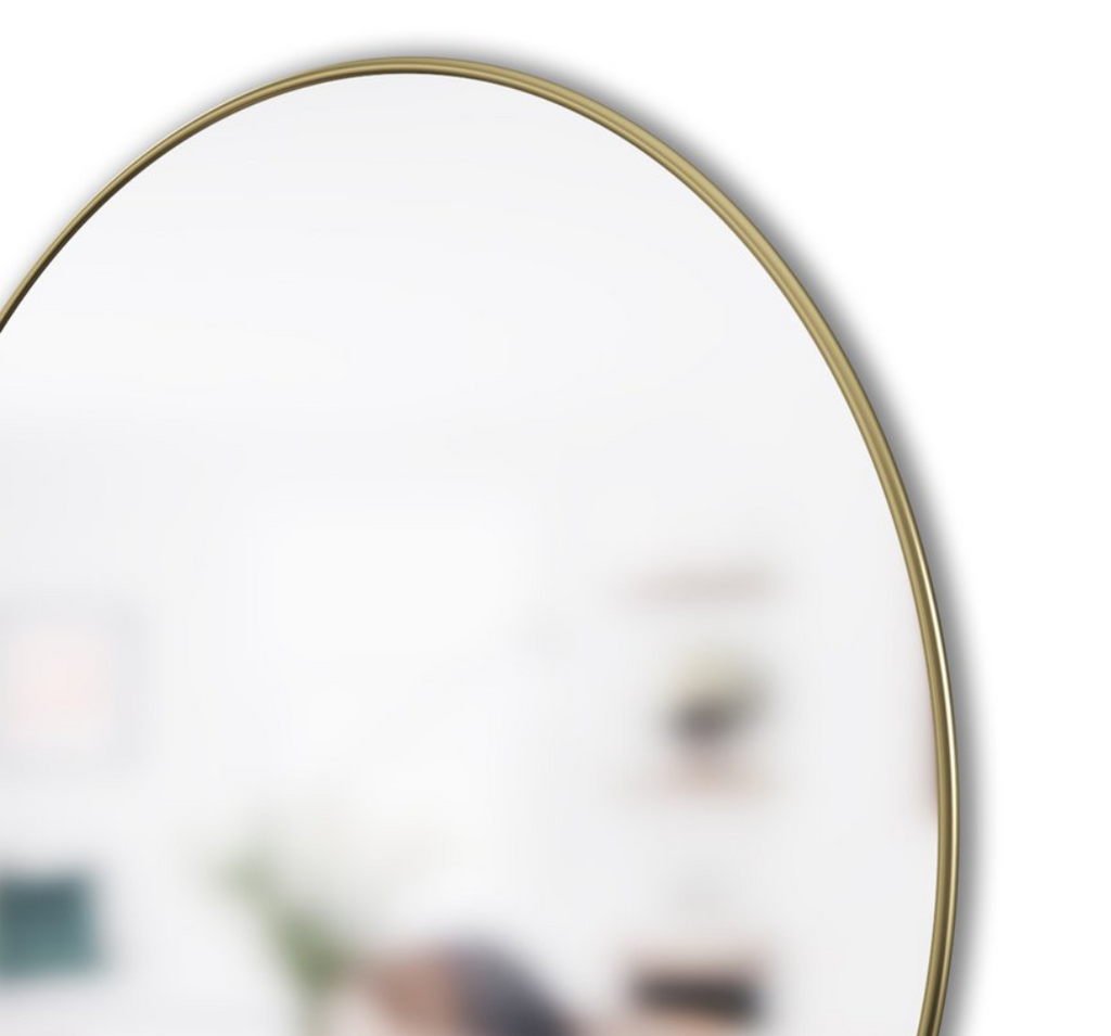 Hubba Round Brass Wall Mirror