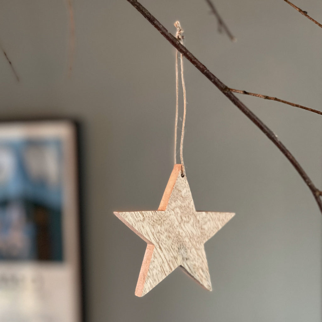 Decoration Star - Mango Wood