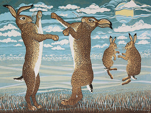 Card March Hares