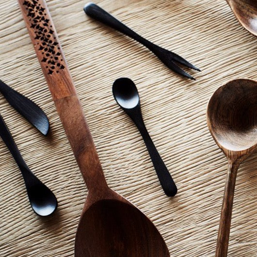 Bamboo Spoon Black