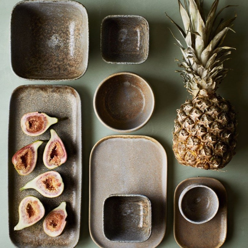Pina Stoneware Serving Plates & Bowls - Assorted