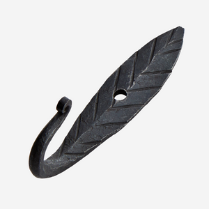 Chevron Hand Forged Black Hook