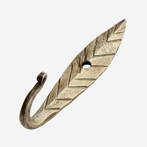 Chevron Hand Forged Brass Hook