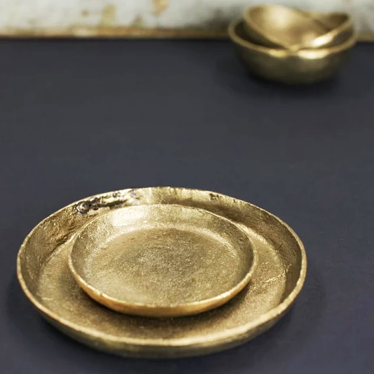 Jahani Plate Brushed Gold Small
