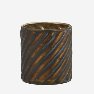 Striped Glass Votive