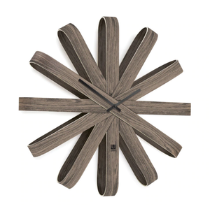 Ribbonwood Wall Clock - Walnut
