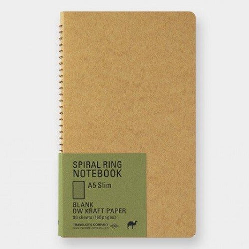 Traveler's Company Spiral Ring Notebook A5 Kraft