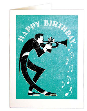 Card Trumpeter Happy Bday